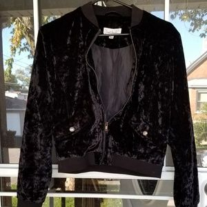 Womens Cloud Chaser Crushed Velvet Jacket